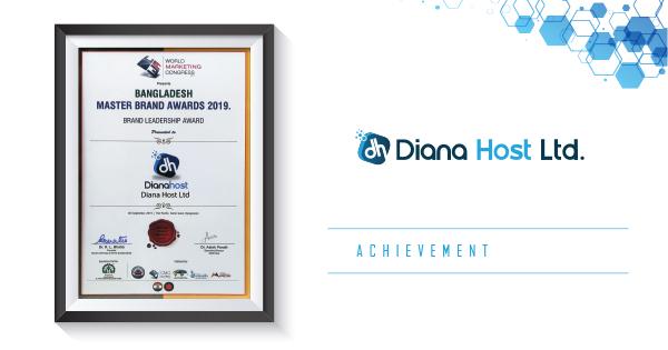 Diana Host has been awarded Bangladesh Master Brand Awards