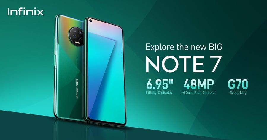 Infinix Announces Note 7: Explore the New Big with 48MP Quad Camera